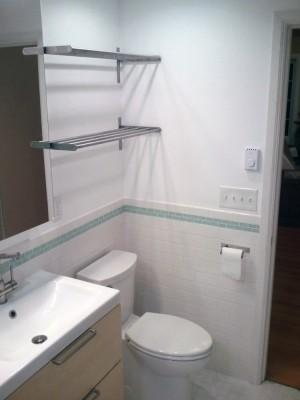 Bathroom Remodel - Wall Racks