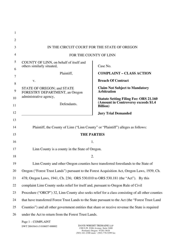 Linn County Lawsuit