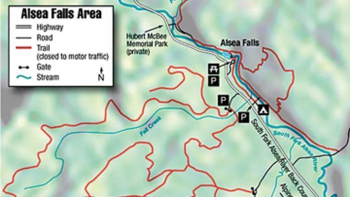Alsea Oregon Map.Alsea Falls Area Map Democratherald Com