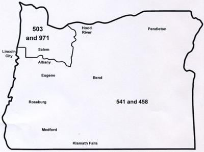 Area Code Map on