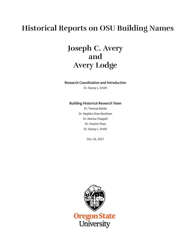 Avery report