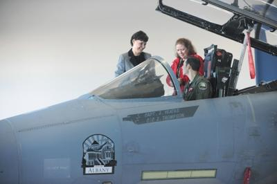 Albany logo unveiled on fighter jet