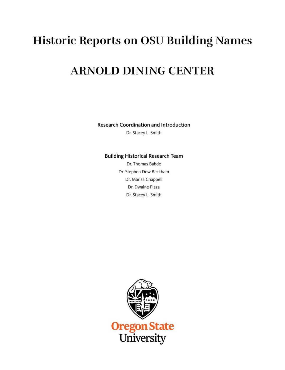 Arnold Dining Hall report