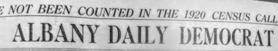 1920 Democrat masthead