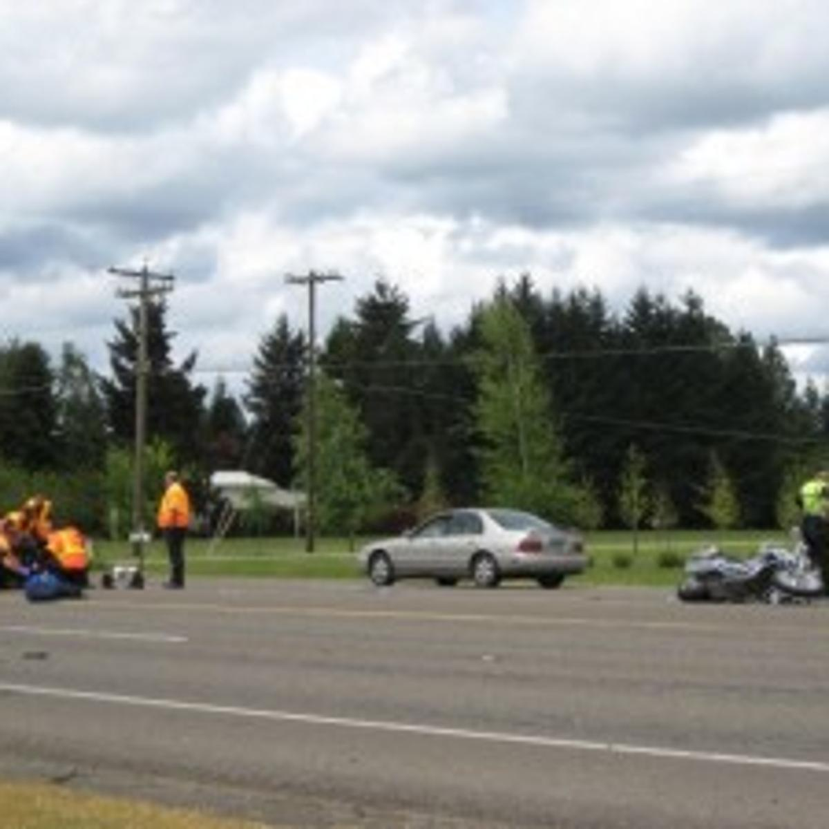 Philomath motorcyclist taken to hospital after Highway 34 wreck