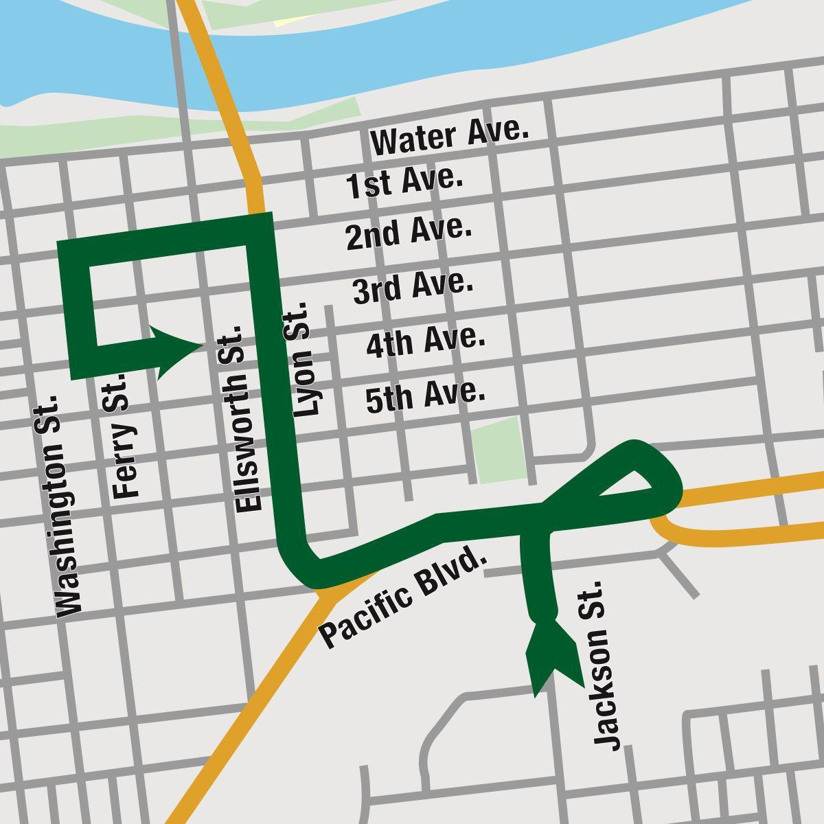 Vets Day Parade map