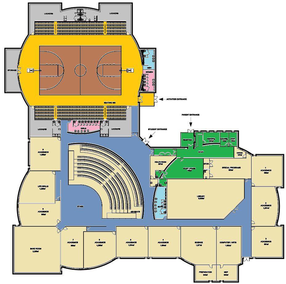 Jefferson Middle schematic, bond 3