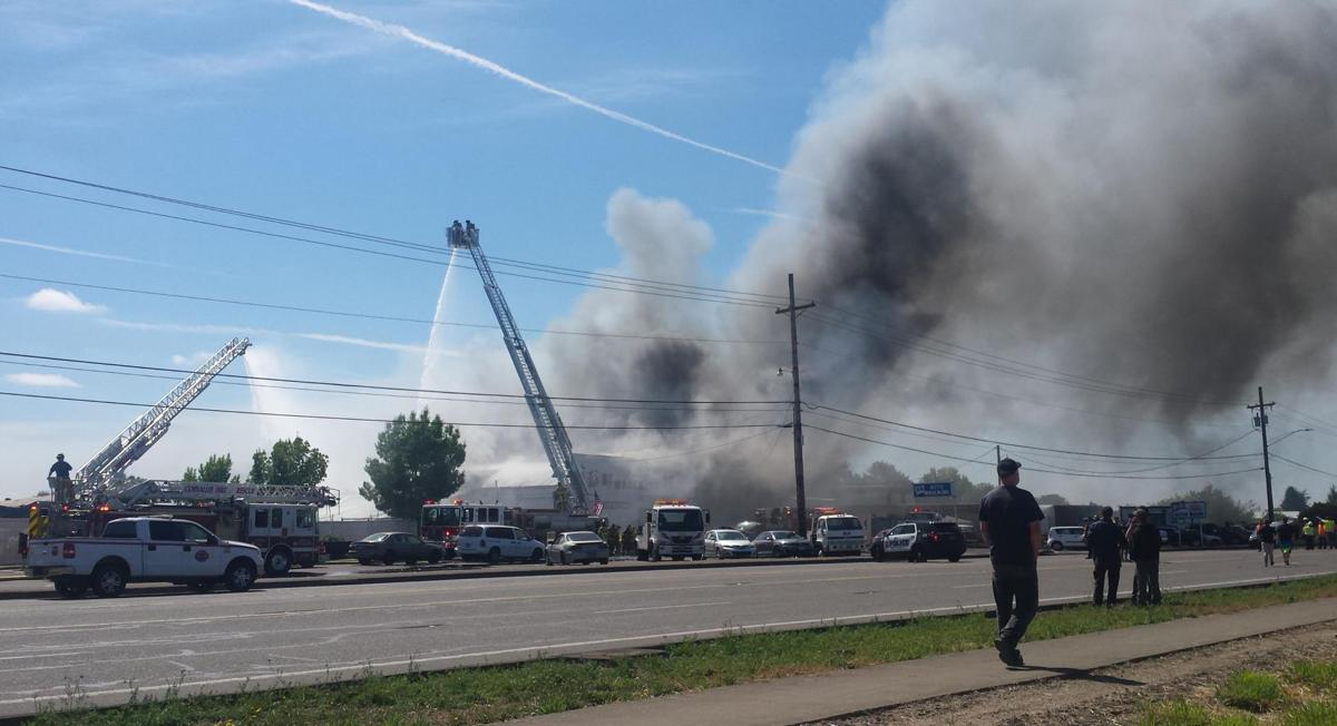 Fire Damages B R Auto Closes Highway 99w News Democratherald Com