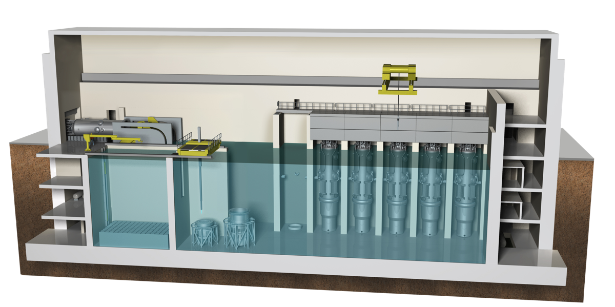 nuscale power plant cross-section