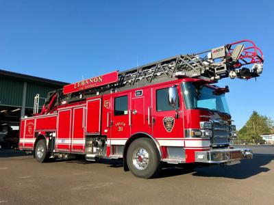 Lebanon Fire District ladder truck