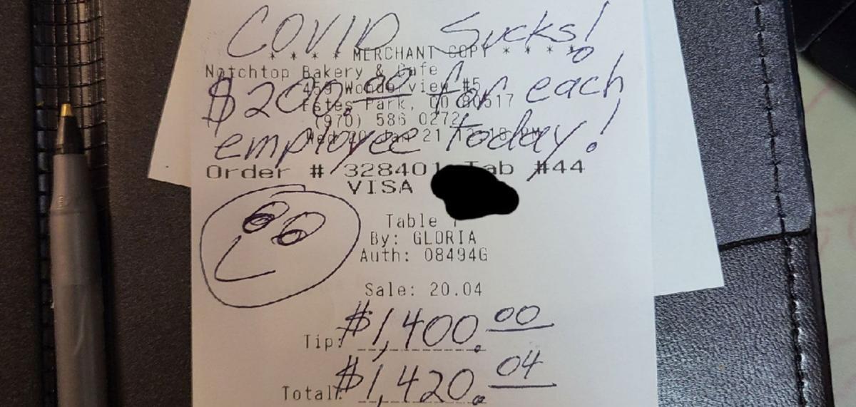 $1400 tip