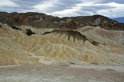 Zabriskie Point in Death Valley.