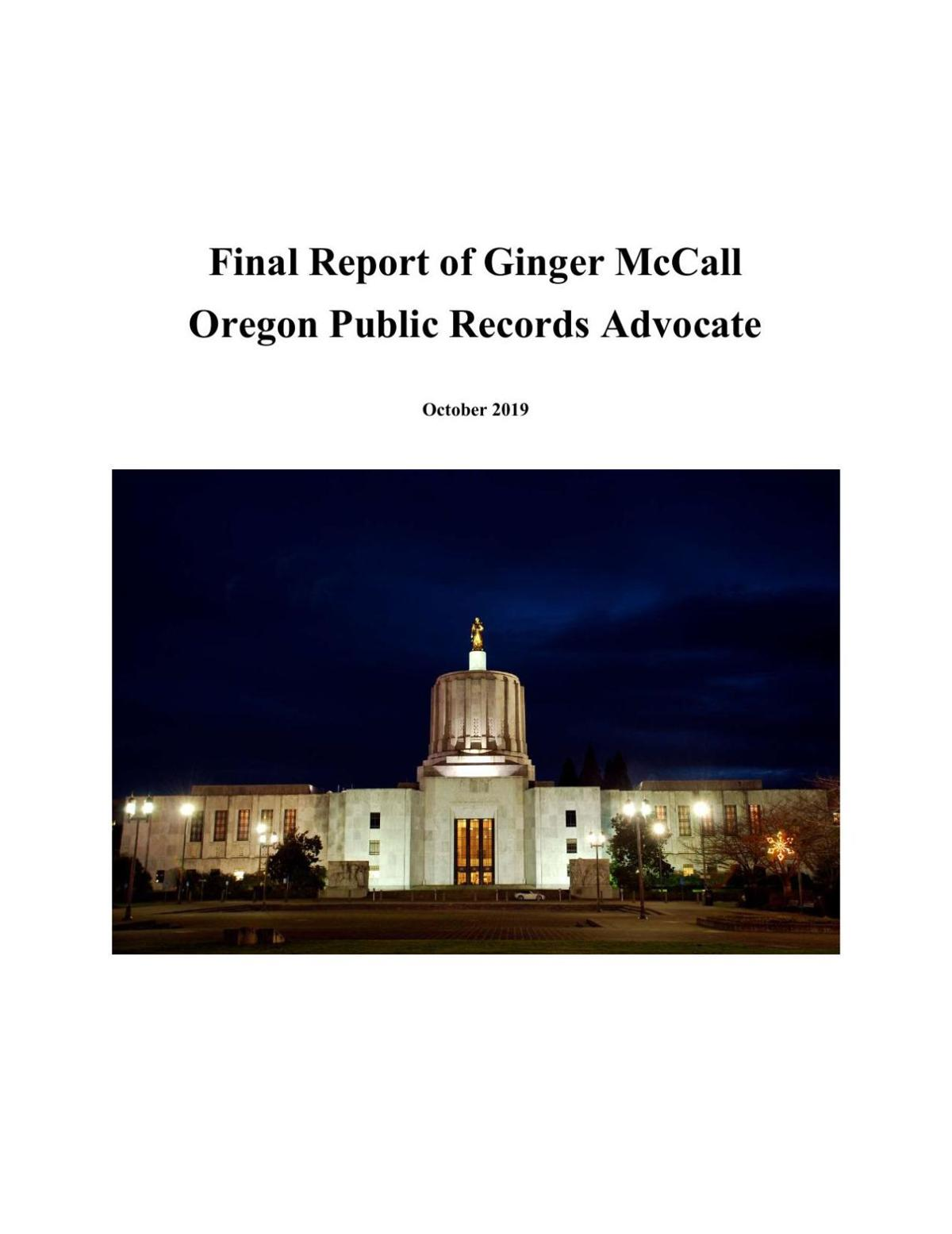Ginger McCall's final report