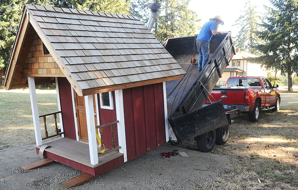 Family Tree Relief Nursery Receives A Playhouse Built By Benton Habitat Volunteers
