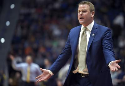 Marquette head coach Steve Wojciechowski reacts to a call against his team in an 83-64 loss against Murray State in the first round of the NCAA Tournament at XL Center in Hartford, Conn., on March 21, 2019.