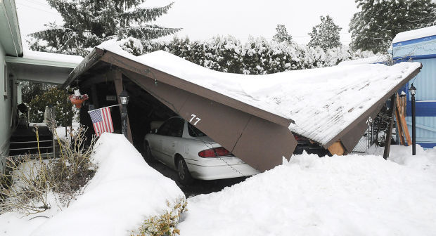 Snow Weighs Heavily On Area Collapsed Structures Crashes