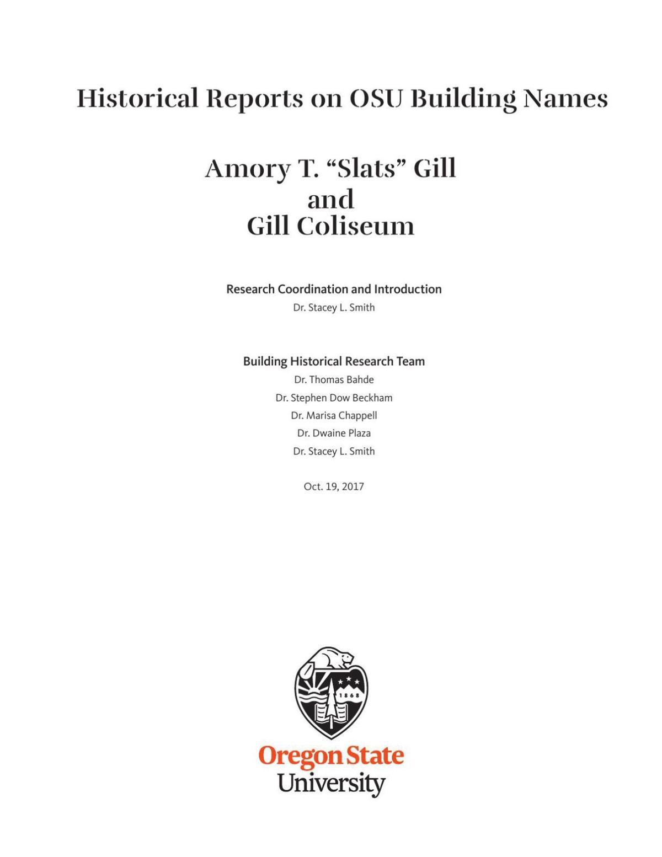 Gill Coliseum report