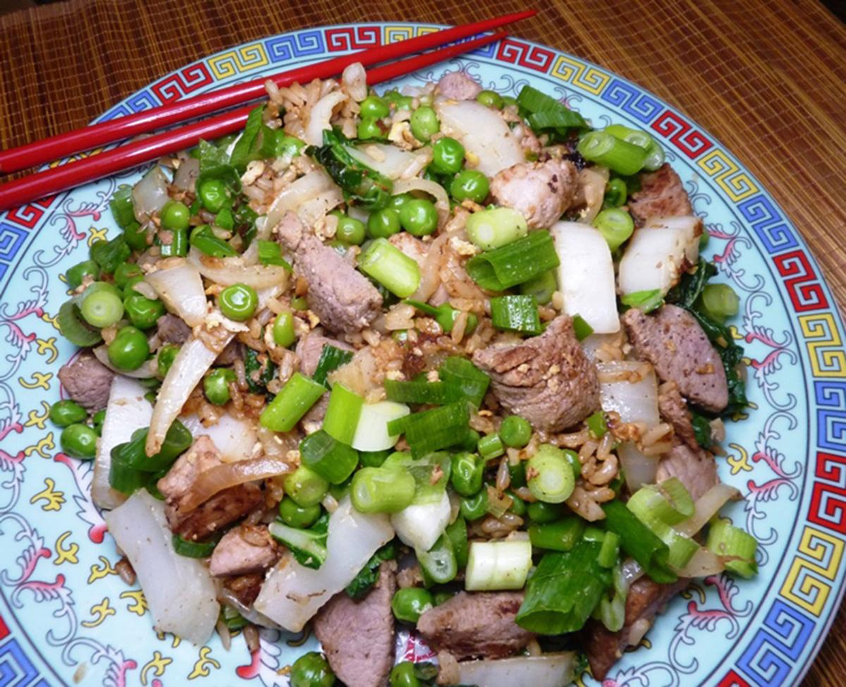 Pork fried rice perfect for leftovers