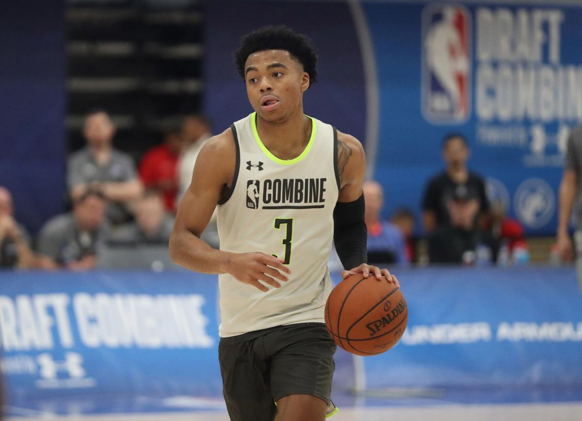 Jalen Lecque during the NBA draft combine on Thursday, May 16, 2019 at the Quest Multisport Complex in Chicago, Ill.