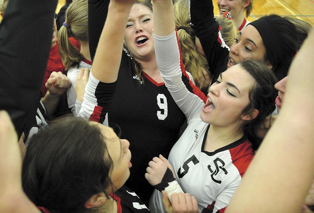 SC volleyball: Celebrating