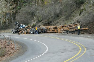 Log truck rollover on Highway 226 | Local | democratherald com