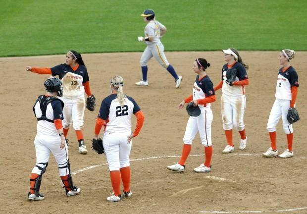 OSU softball: Paige Hall and teammates