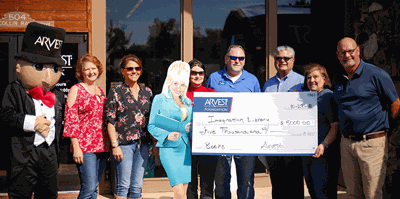 Arvest Bank donates $5,000 to the Imagination Library of