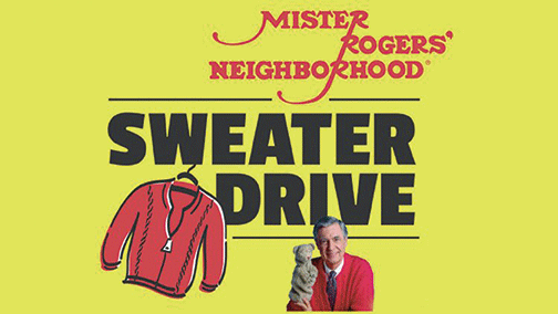 Column Mr Rogers Sweater Drive At Local Libraries Columns Dequeenbee Com