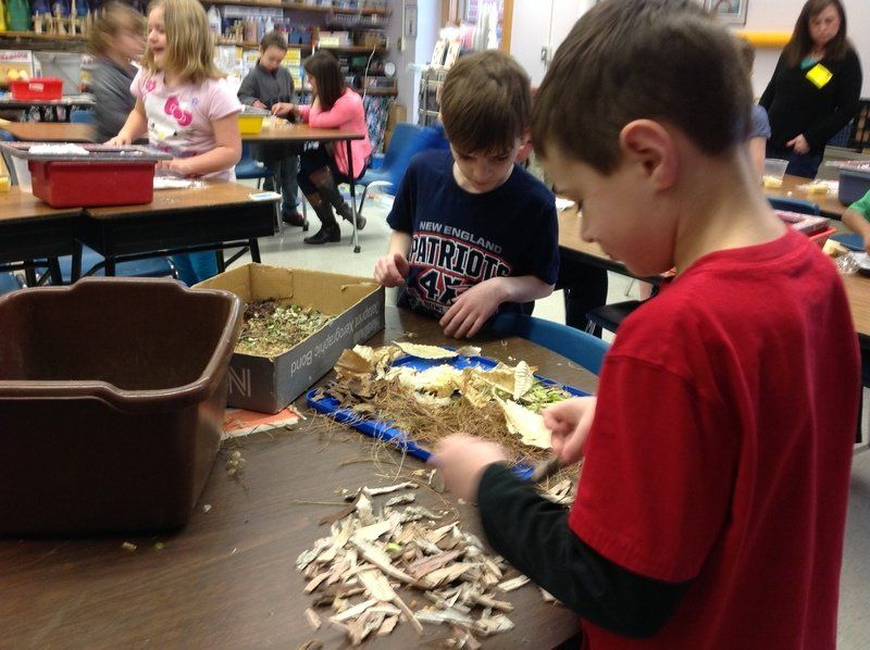 Students learn about art, recycling