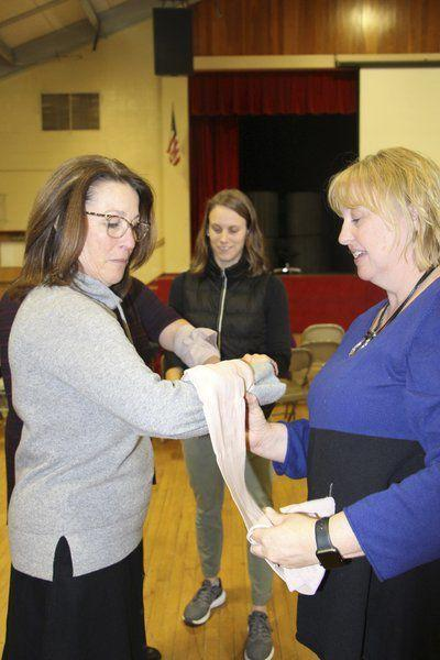 Pinkerton Academy faculty and staff participate in 'Stop the Bleed' training