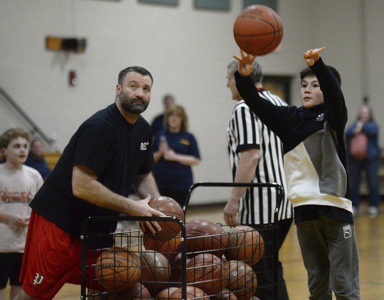 Taking center court