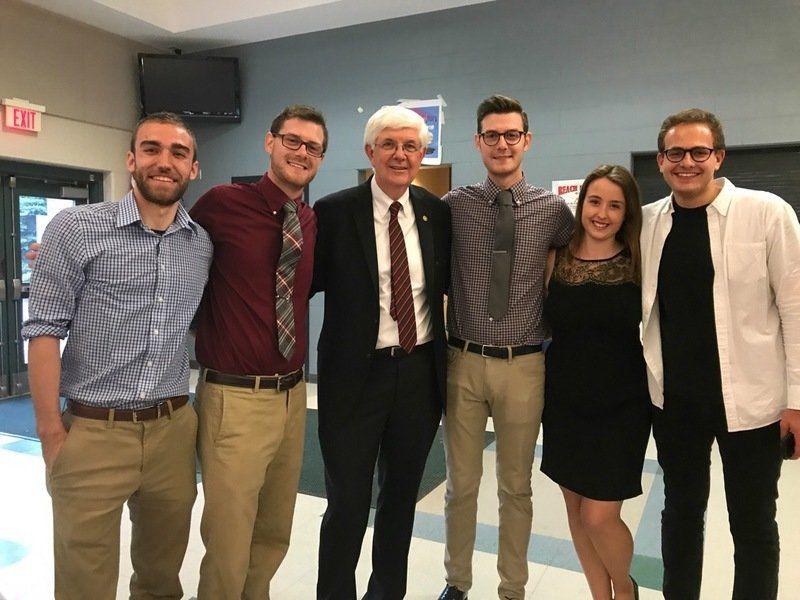 Pinkerton alum, staff, community honor Tom Quigley