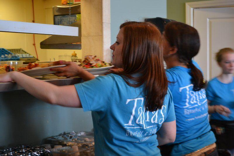 Family serving family at Talia's