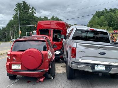 3-car crash sends woman to hospital