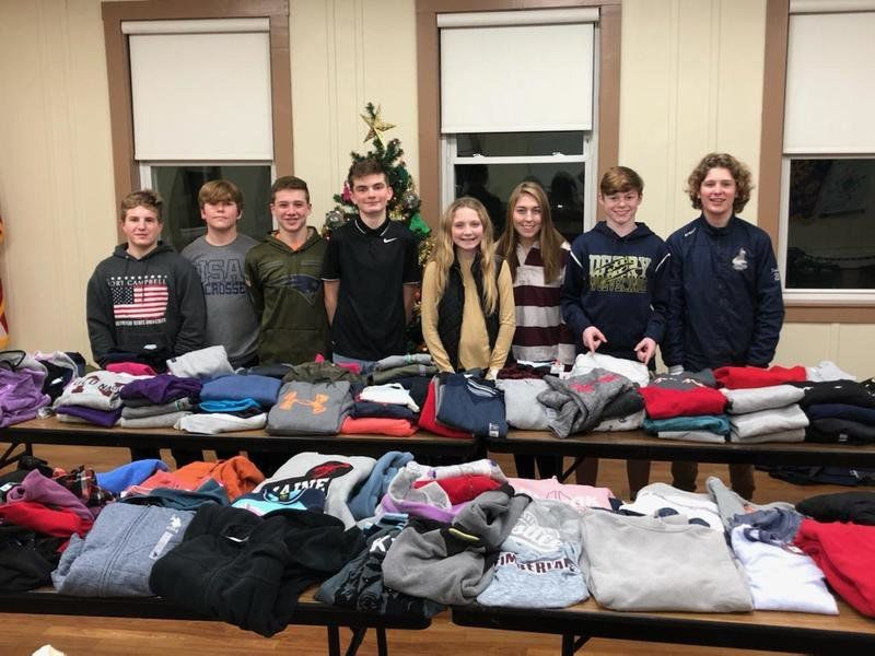 Teen's charity collects more than 350 sweatshirts