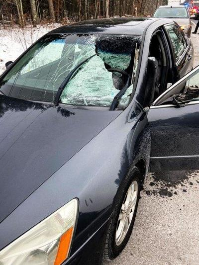 Driver, 22, badly hurt by snow, ice from box truck
