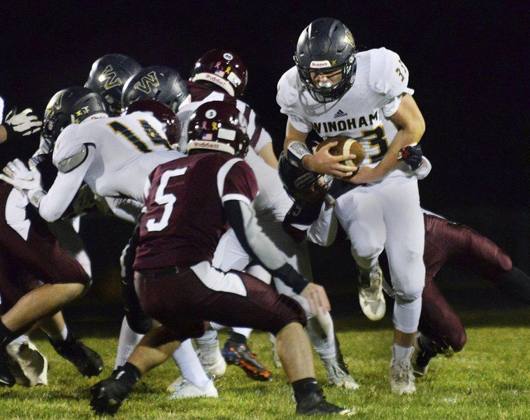 Confident kicker: Sophomore Burke boots Windham to victory on final play
