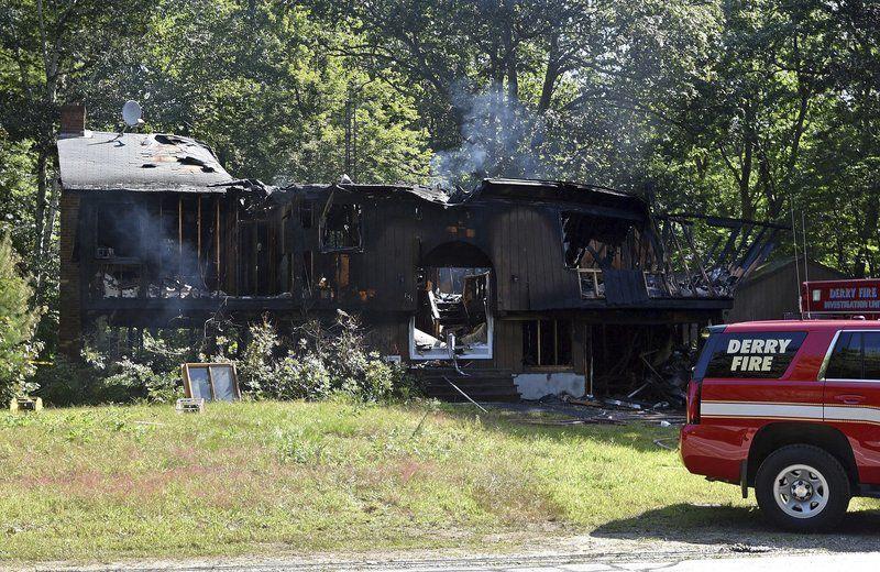 Derry murder suspect's home destroyed in fire