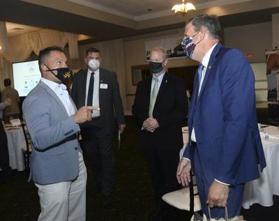 Governor speaks during Chamber event