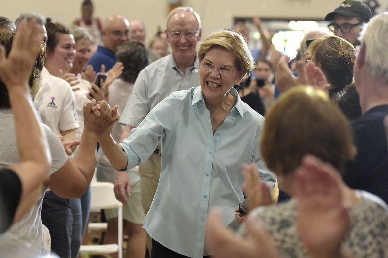 Warren draws crowd to Derry