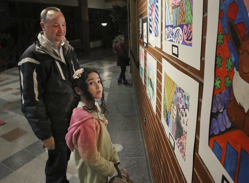 Youth Art Month works on exhibit at Stockbridge Theatre