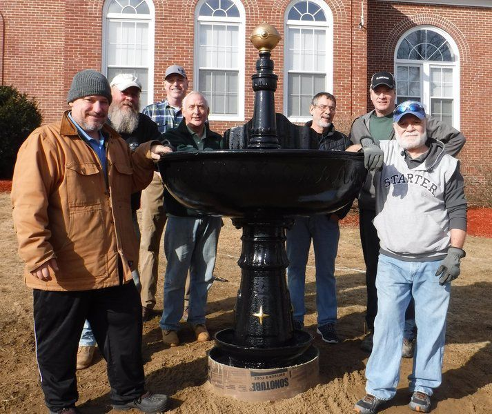 MacGregor fountain flows with history