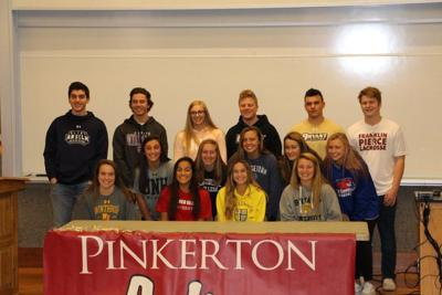 Pinkerton athletes sign on for college teams