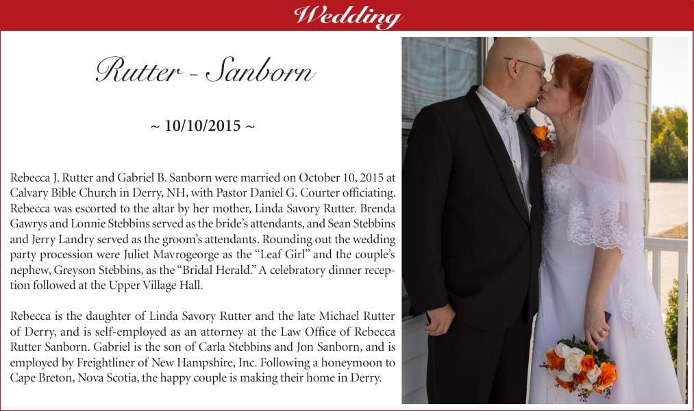 Rutter-Sanborn Wedding