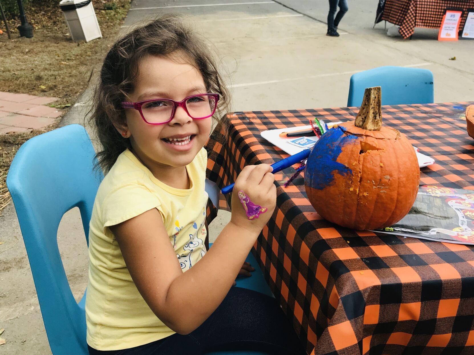 Pumpkins on parade: Children enjoy crafty event at community center