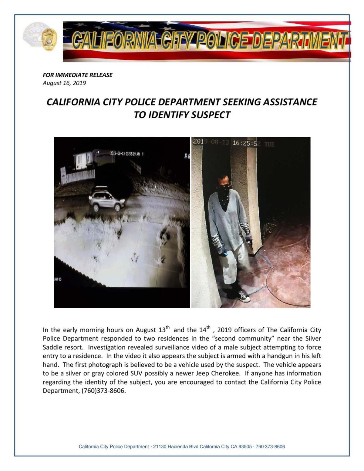 Advisory: Police asking for public assistance in identifying gunman