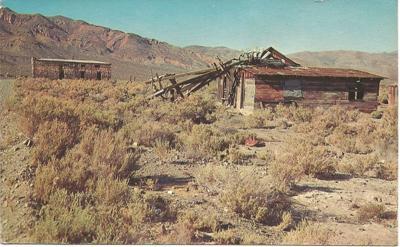 abandon buildings in Garlock, Calif.