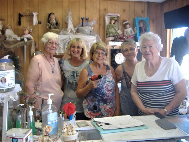 Boron Senior Center Thrift Store volunteers from left to right; Audrey Dinsmore, Millie Ashpaugh, Vieata Searcy, Floyett Sommers(Manager) and Jean Davis..jpg