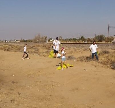 A family affair-Kern County 2nd District Supervisor Zack Scrivner and his children help with the Boron Community Cleanup on Sept. 25, 2021.jpg