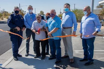 Ribbon Cutting officially opening the new Boron Pedestrian Bike Path which leads from Boron to Desert Lake on Twenty Mule Team Road.